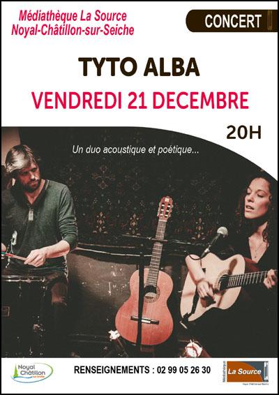 Concert Tyto Alba vendredi 21 décembre à 20h00